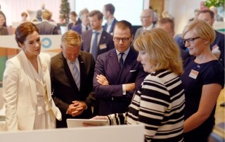 H.K.H. Kronprinsesse Mary og H.K.H. Prins Daniel besøgt KR på Livable Scandinavia
